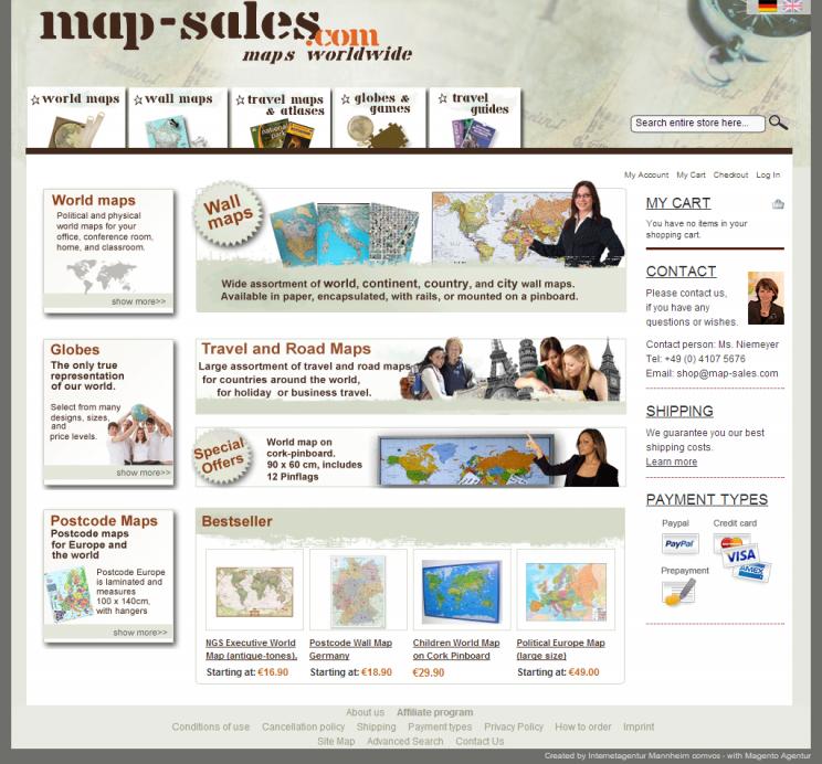 map-sales.com – Shop – ganze Startseite