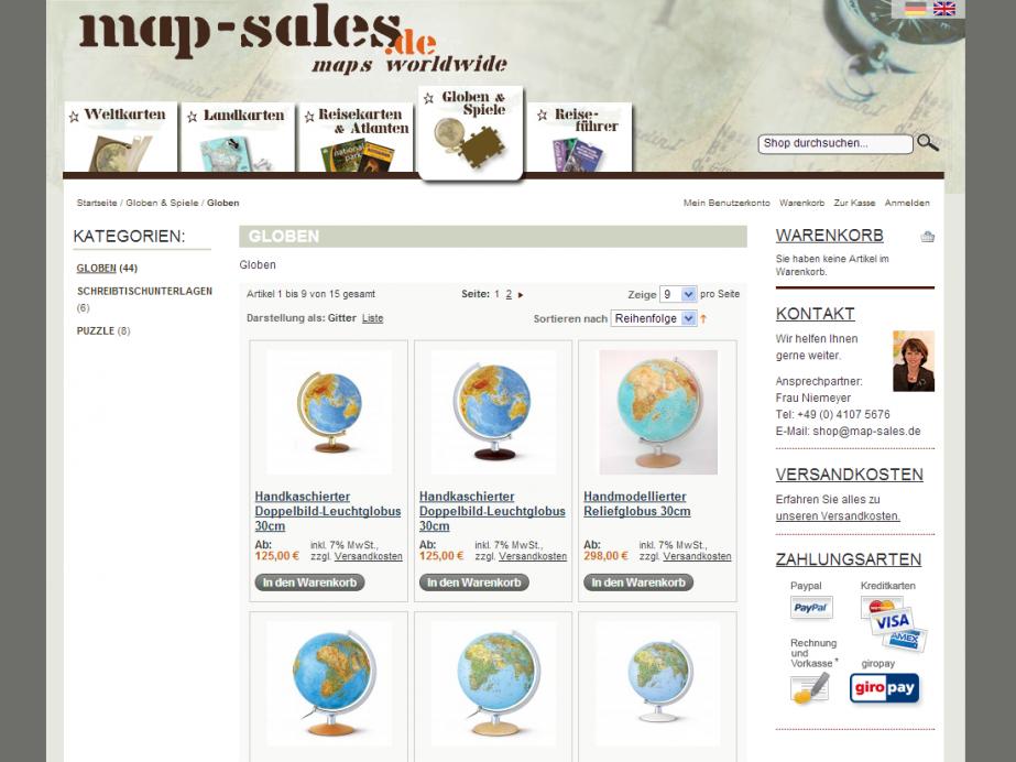 map-sales Shop – Globen