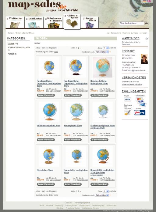 map-sales  Shop – Globen ganze Seite
