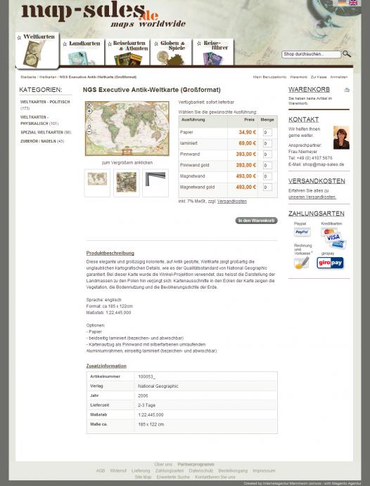 map-sales – Shop – Produkt Einzelansicht – ganze Seite