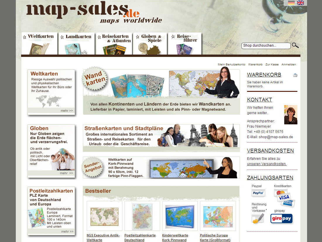 map-sales Webdesign Layout Screenshot - Internet Agentur Heidelberg