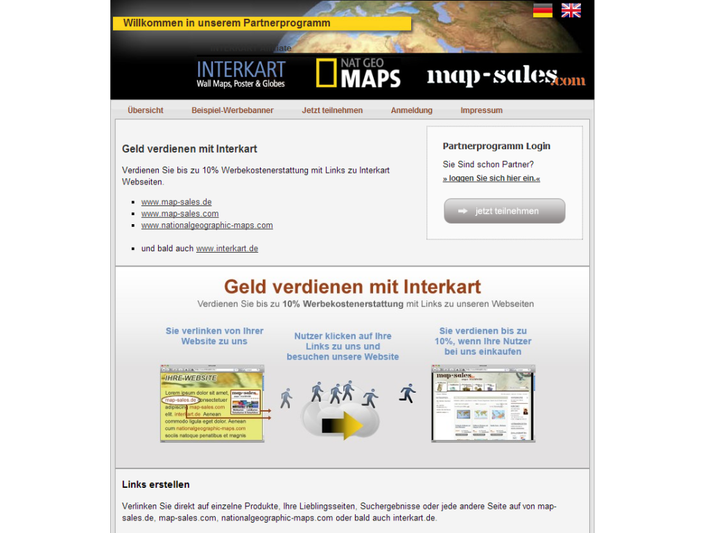 map-sales Shop Partnerprogramm