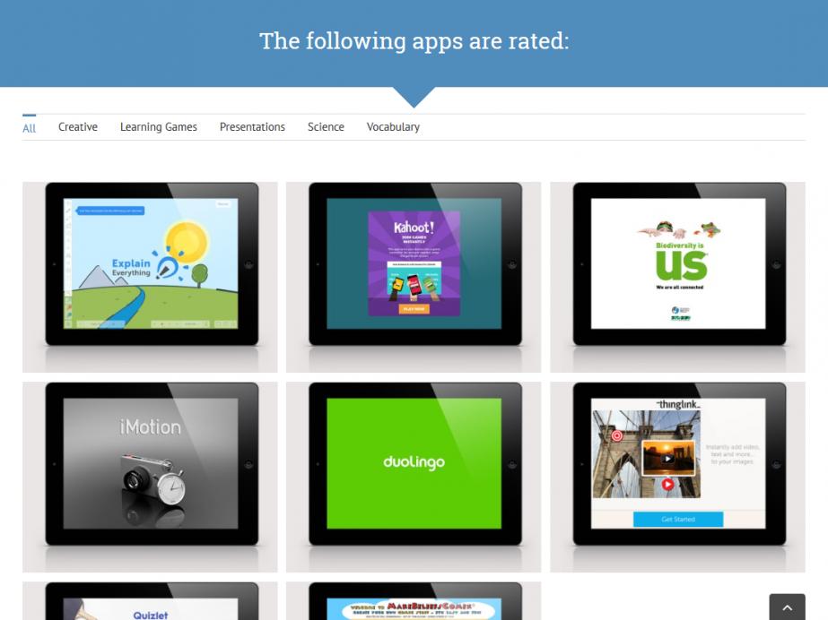 Responsive Internet APP Evaluations-Portal für Schulen – Apps