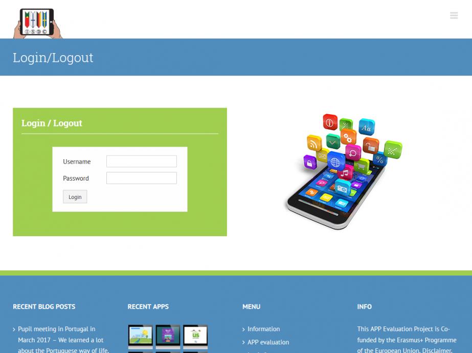 Responsive Internet APP Evaluations-Portal für Schulen – Intranet Login
