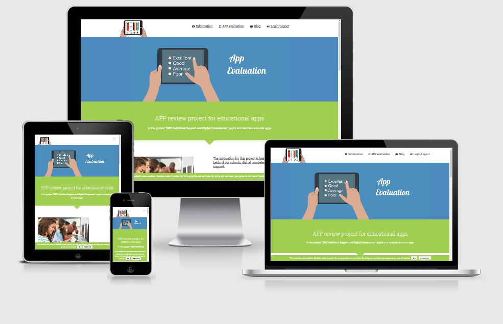 Responsive Internet APP Evaluations-Portal für Schulen