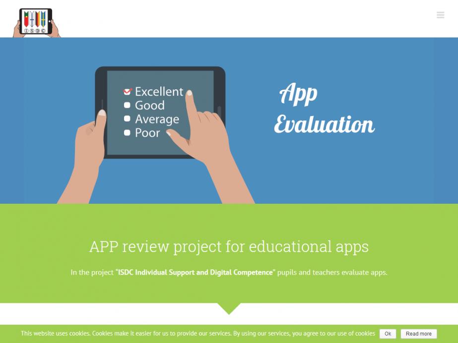 Responsive Internet APP Evaluations-Portal für Schulen – Startseite