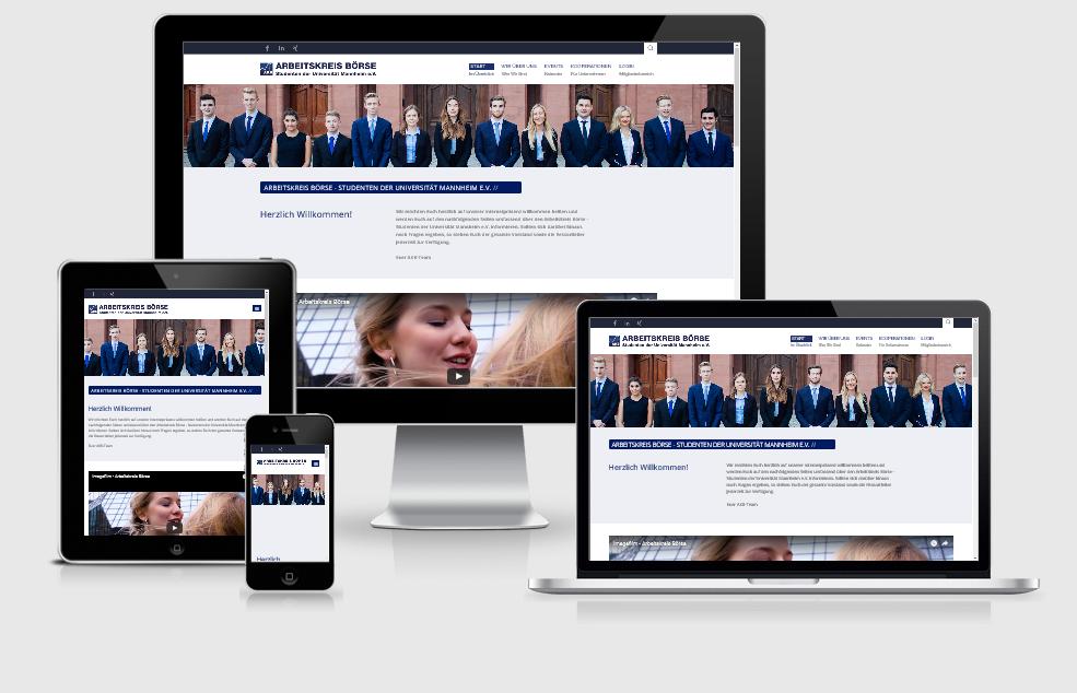 Responsive Internet Auftritt für Arbeitskreis Börse mit TYPO3 CMS