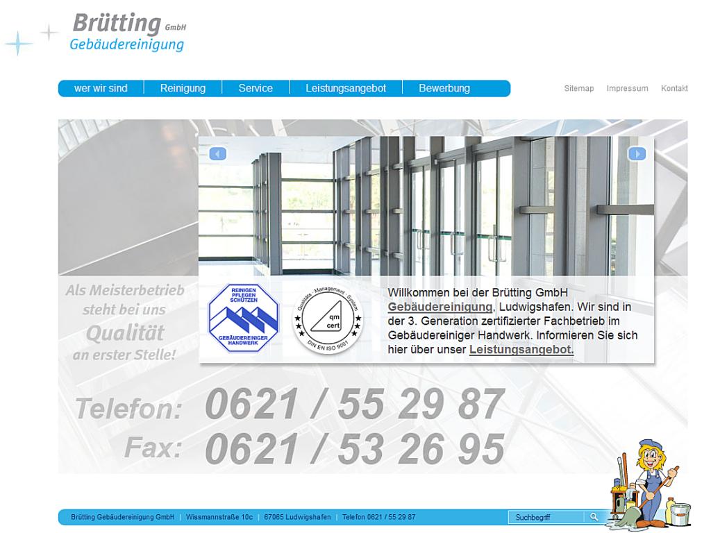 Webdesign der Brütting Gebäudereinigung