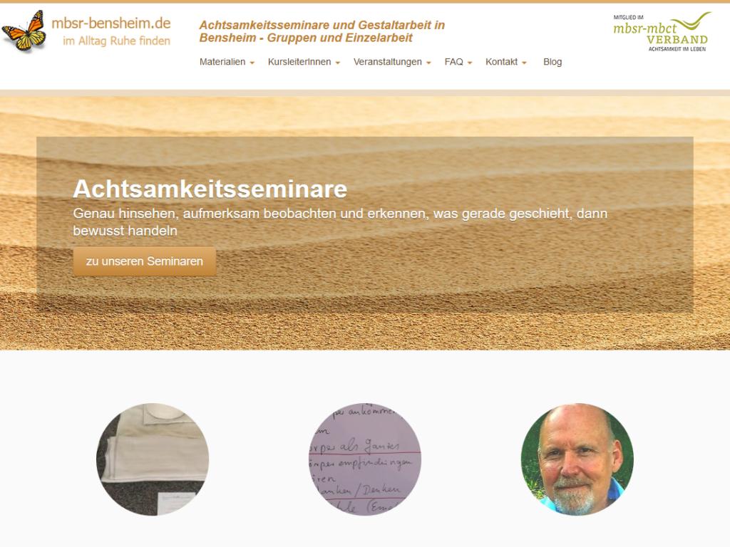 Responsive Internet Auftritt MBSR Dr. Spill, Bensheim – Startseite