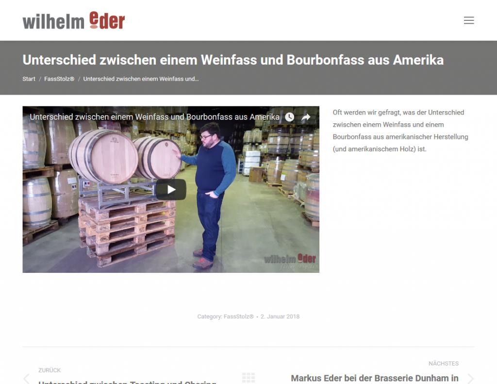 Responsive Internet Auftritt für Wilhelm Eder GmbH – Aktuelles