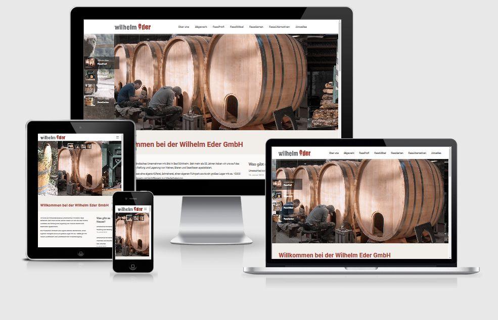 Responsive Internet Auftritt für Wilhelm Eder GmbH mit WordPress CMS