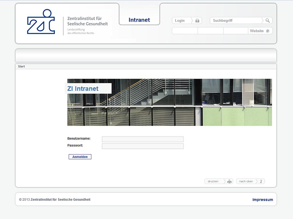 zi-mannheim Intranet Webseite